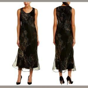 NWT $748 Lafayette 148 New York Palmer Silk Dress